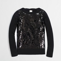 Factory girls' long-sleeve sequin tee