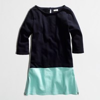Factory girls' colorblock boatneck dress