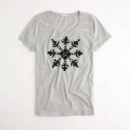 Factory snow gem tee