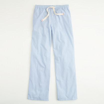 Factory micro-stripe poplin sleep pant