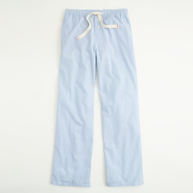 Factory micro-stripe poplin sleep pant