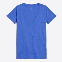 Featherweight slub cotton V-neck T-shirt