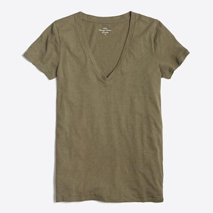 Featherweight slub cotton V-neck T-shirt