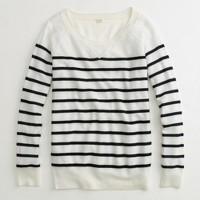 Factory stripe merino boyfriend sweatshirt