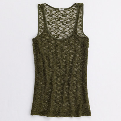 Factory lace tank