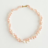 Factory girls' twisted pearl necklace