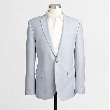 Factory Thompson suit jacket in oxford