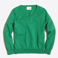 Boys' classic V-neck sweater