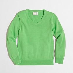 Factory boys' classic V-neck sweater