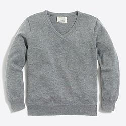 Boys' classic V-neck sweater