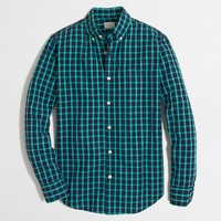 Factory washed shirt in bold open tattersall