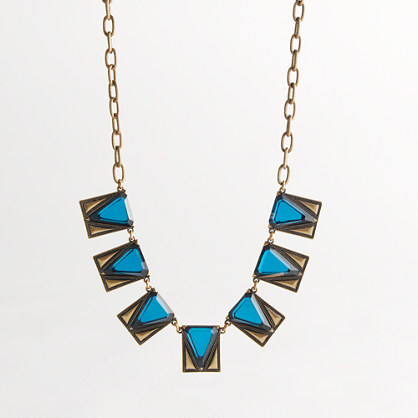 Factory triangle pendant necklace