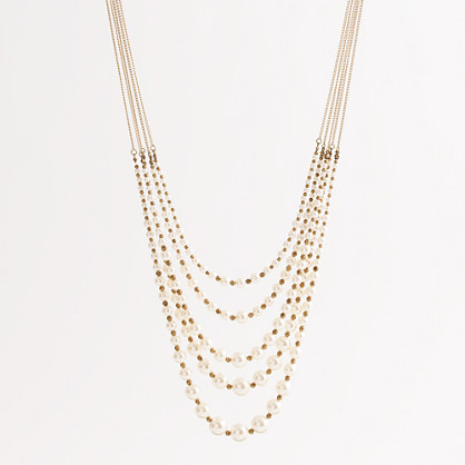 Factory multistrand dotted pearl necklace