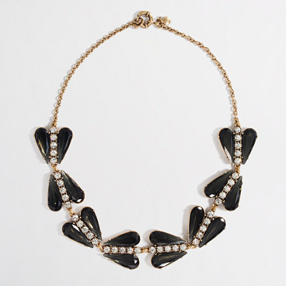 Factory dotted crystal heart necklace