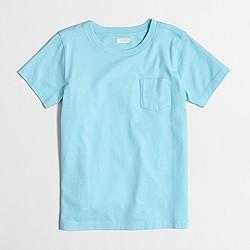 Boys' short-sleeve jersey pocket T-shirt