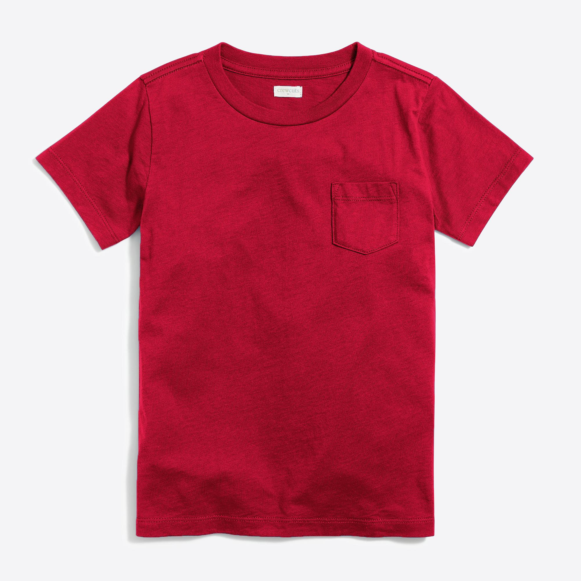 Boy 39 s short sleeve jersey pocket t shirt j crew factory for Boys pocket t shirt
