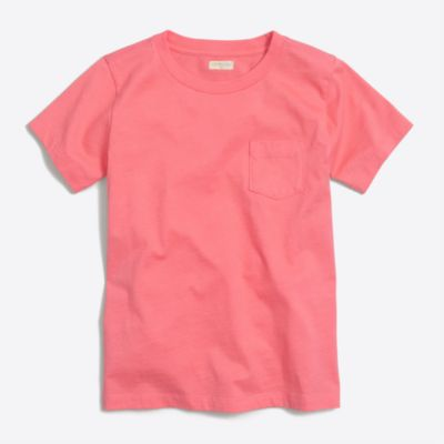 Boys' short-sleeve jersey pocket T-shirt