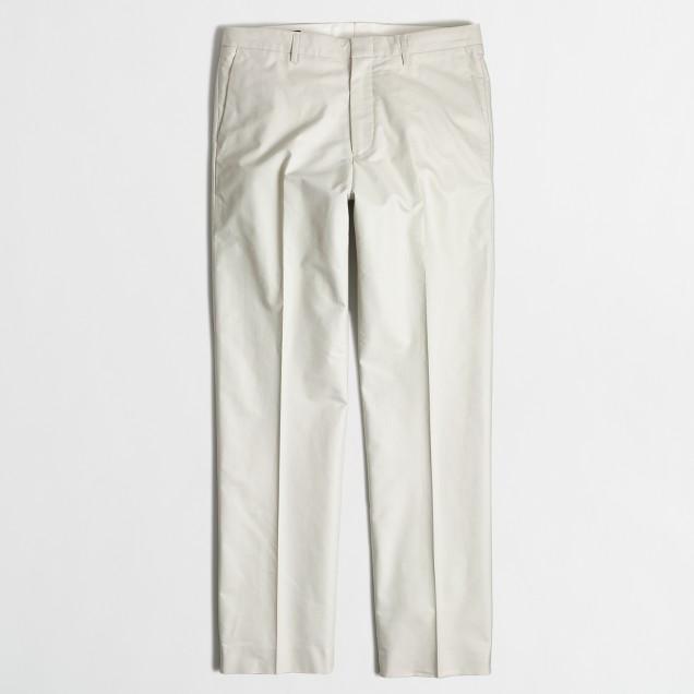 Factory Thompson suit pant in cotton piqué