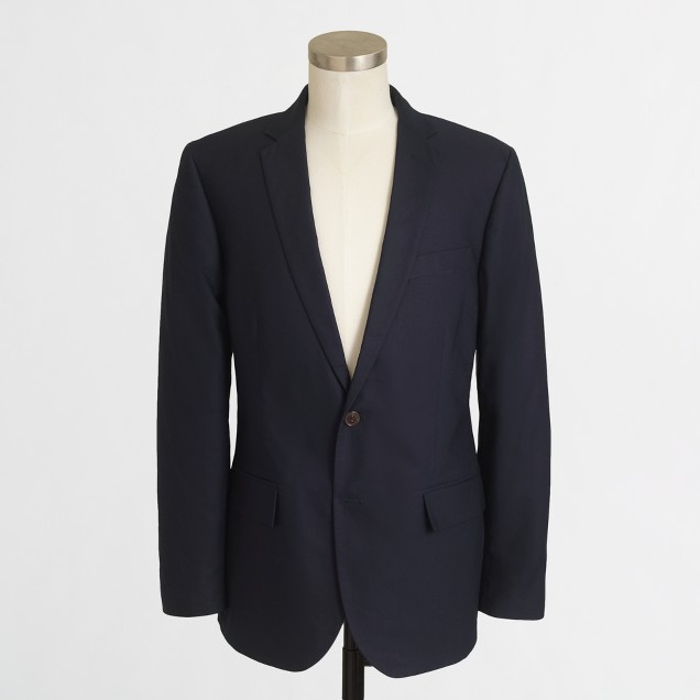 Thompson suit jacket in cotton piqué