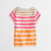 Factory girls' sequin-stripe tee
