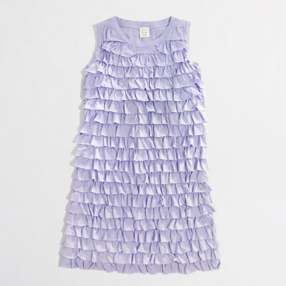Factory girls' tiered-ruffle tank dress