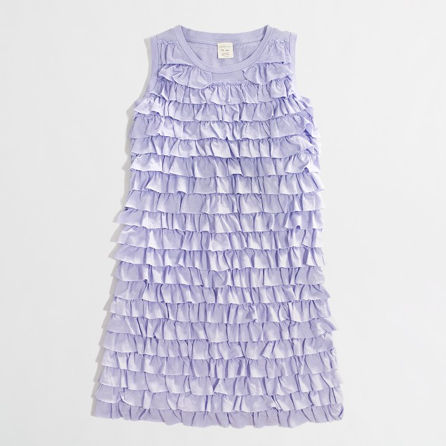 Factory girls' tiered-ruffle tank dress
