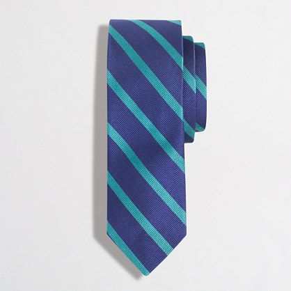 Silk reed-striped tie