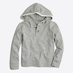Boys' heathered henley hoodie