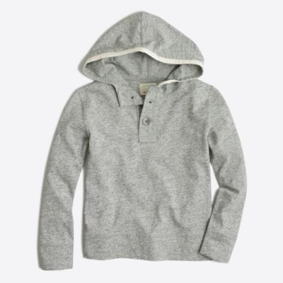 Boys' heathered henley hoodie factoryboys knits & t-shirts c