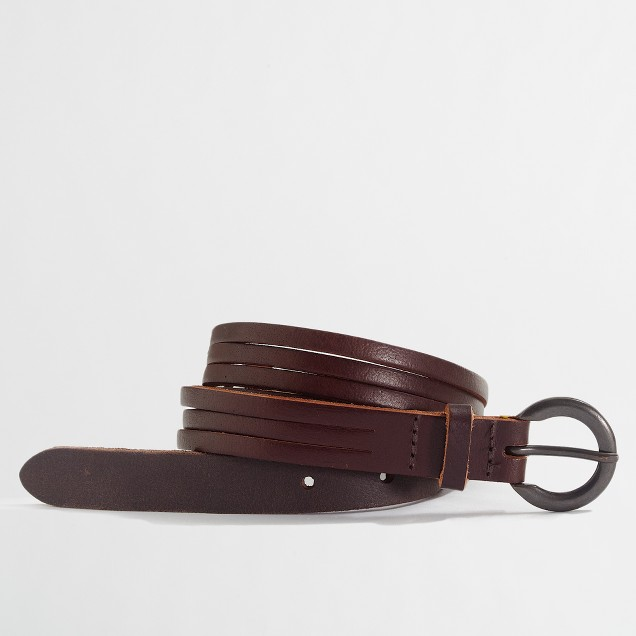 Factory braided leather belt