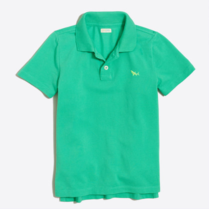 Boys' critter piqué polo shirt