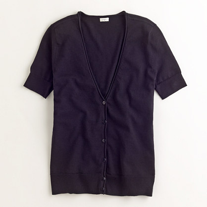 Factory short-sleeve cardigan
