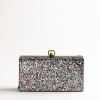 Factory crushed glitter minaudière