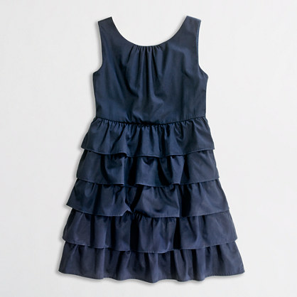 Factory girls' ruffle party dress