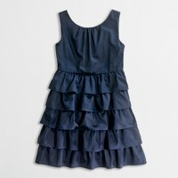 Factory girls' ruffle party dress