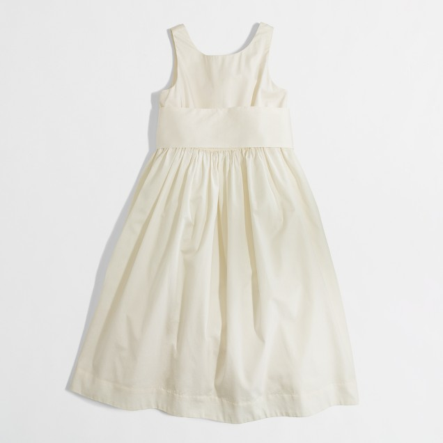 Factory girls' bow sash party dress