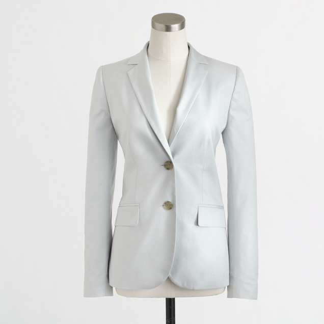 Factory suiting blazer in cotton