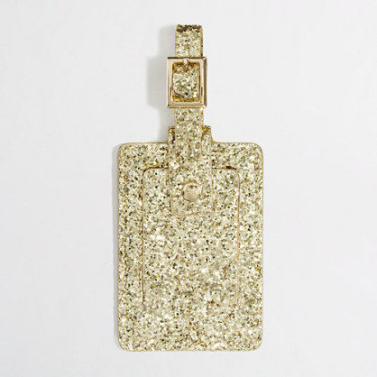 Factory metallic glitter luggage tag