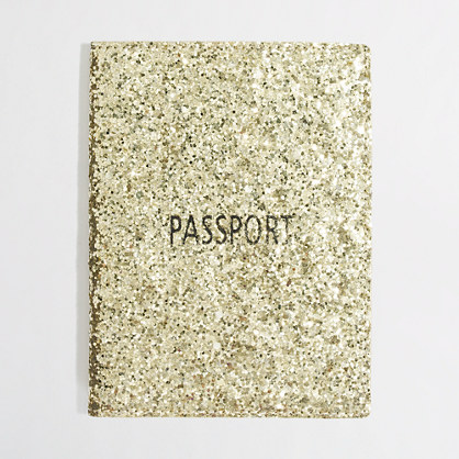 Factory glitter passport case