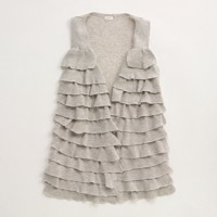 Factory ribbed ruffle vest