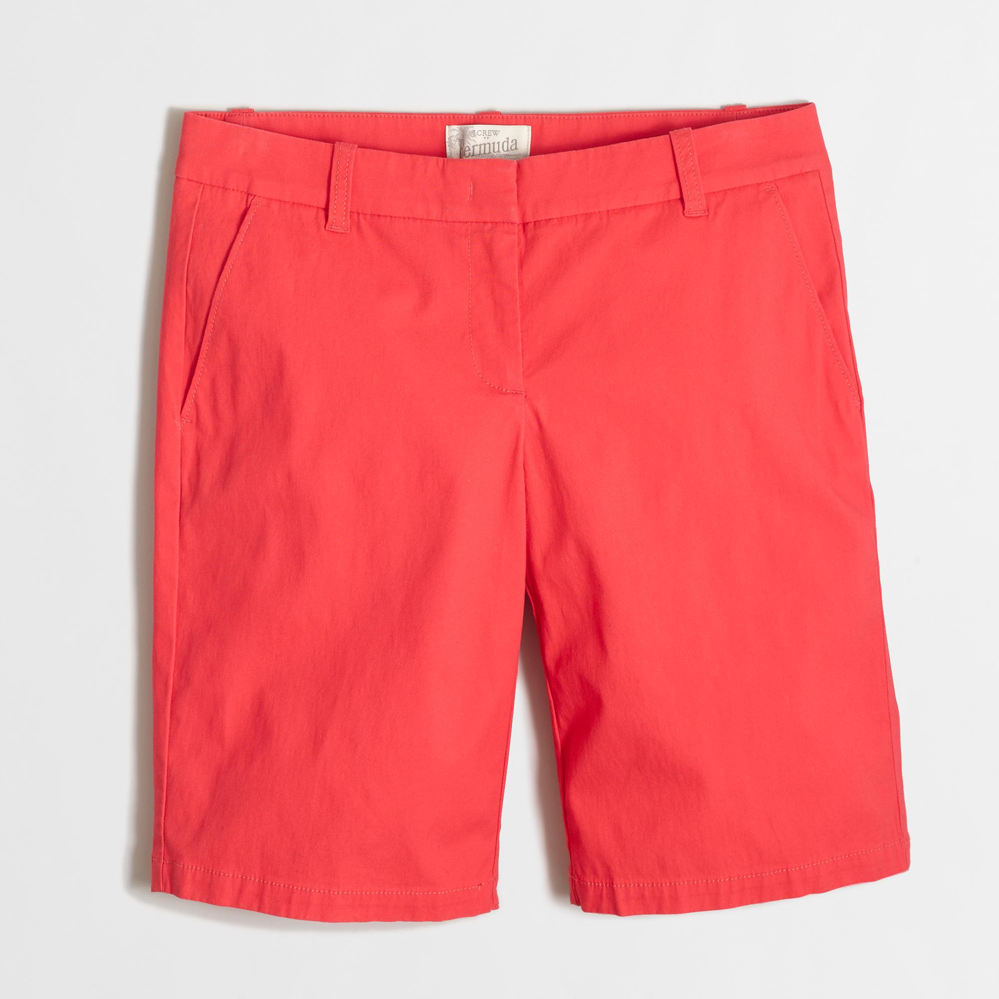 10 bermuda short women 39 s shorts j crew factory for Women s fishing shorts