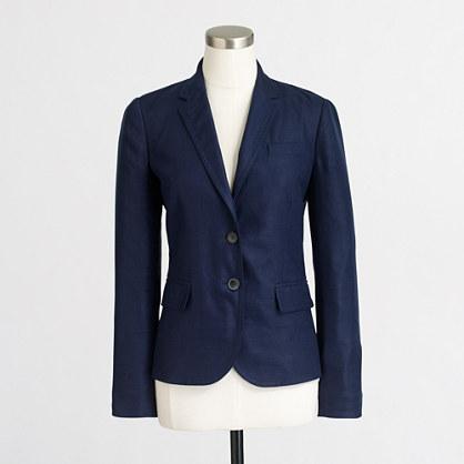 Petite schoolboy blazer in linen