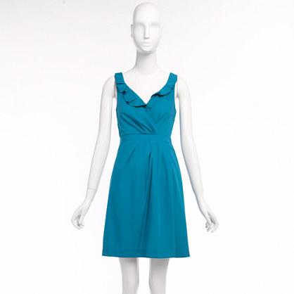 Factory cotton ruffle dress