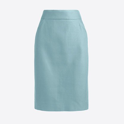 Tall pencil skirt in double-serge cotton