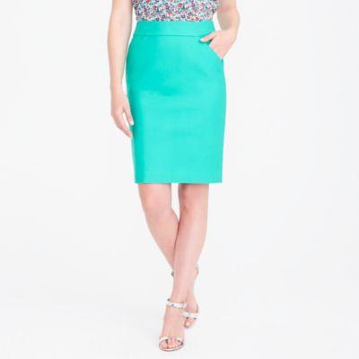 Petite pencil skirt in double-serge cotton factorywomen petite c