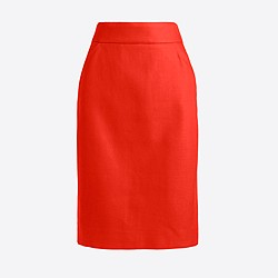 Pencil skirt in double-serge cotton