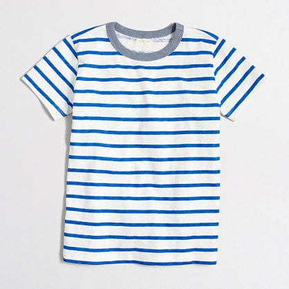 Boys' contrast ringer t-SHIRT in stripe