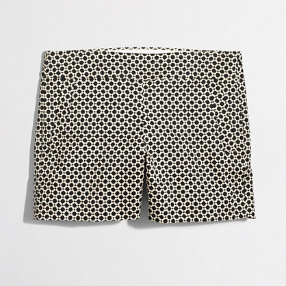 """Factory 5"""" printed stretch chino short"""