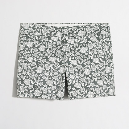 "5"" printed stretch chino short"