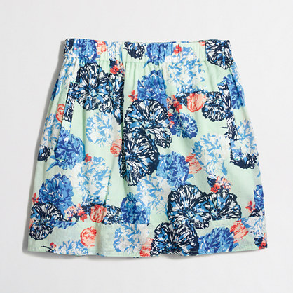 Printed pocket skirt
